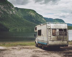 Camping with motorhome