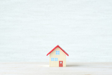 手作りの住宅の模型