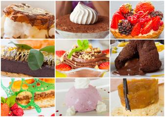assortiment de desserts