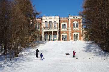 BYKOVO, MOSCOW REGION, RUSSIA - February, 2016: Manor Bykovo. The main palace