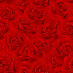 Beautiful Red Rose - Rosa Seamless Background