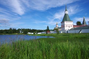 VALDAI, RUSSIA - August, 2017: Iversky monastery in Valdai, Novgorod region, Russia