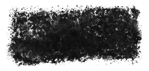Unordentliche Markierung aus schwarzer Farbe