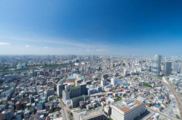 東京風景・ワイド・隅田川
