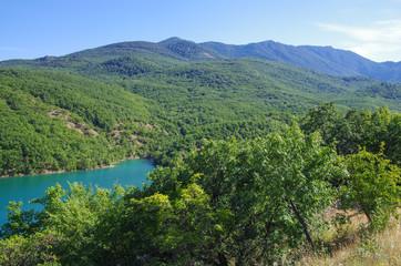 The reservoir in Crimea near Alushta