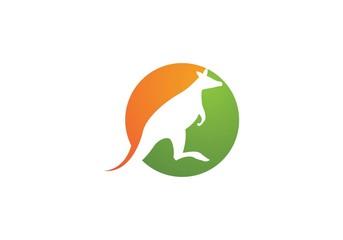 Kangaroo logo Icon Vector