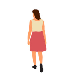 Wall Mural -  isolated, flat style girl