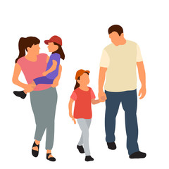 Wall Mural - vector, isolated, flat style family go