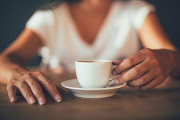 Woman Holding Turkish Coffee