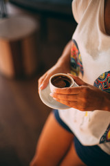 Woman Holding Turkish Coffee