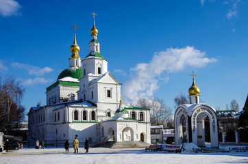 MOSCOW, RUSSIA - February, 2018: St. Daniel monastery in Moscow
