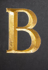 Written Wording in Distressed State Typography Found Letter B