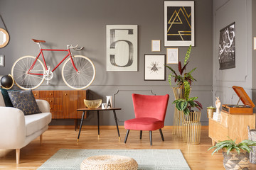 Vintage design artist's studio room