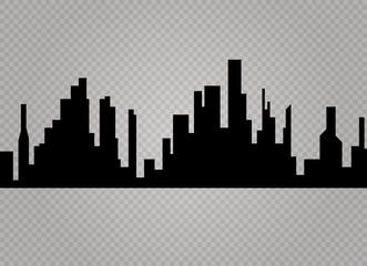 City skyline vector illustration. Urban landscape. Daytime cityscape in flat style