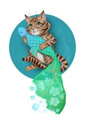 Cat and dream fish