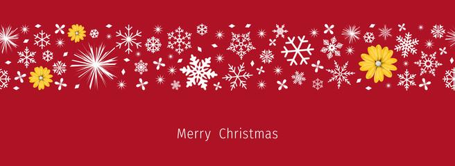 Christmas border. Seamless snowflake border for Christmas card.  Merry xmas snow flake pattern design vector.