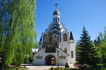 PUSHKINO, RUSSIA-May, 2018: Church of the Saviour Icon in Klyazma, Moscow region