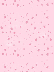 gentle background pattern with stars and dots. The idea for children's metrics, scrap paper. Seamless vector pattern
