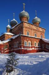 KOSTROMA, RUSSIA - February, 2018: View of the Resurrection Church on the Debra