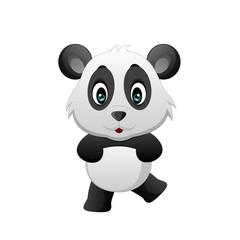 Cute funny baby panda cartoon