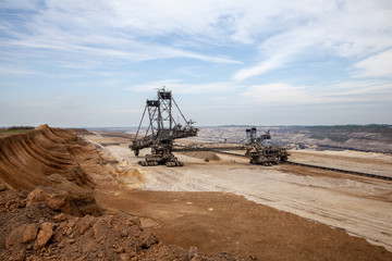 brown coal open pit inden and excavator Germany power industry