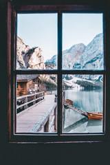 Window on Lake Braies, Italy