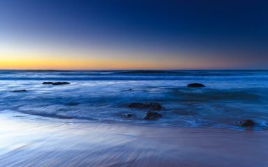 Cloudless Sunrise Seascape