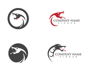 vector snake simple logo design element