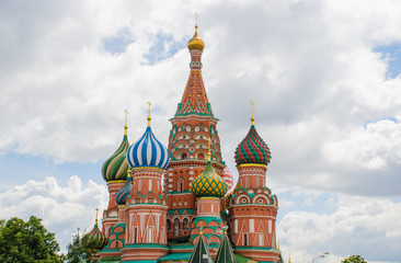 Moscow, St. Basil Cathedral, Russia.