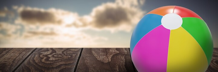 Composite image of colorful ball