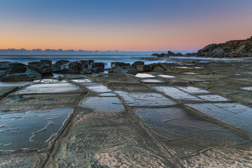 Sunrise and Tessellated Rock Platform by the Sea