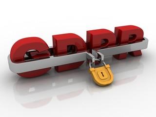 3d rendering GDPR lock