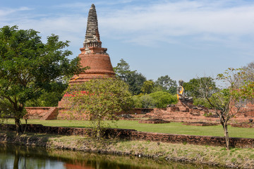 Temple of Ayutthaya historical park, Thailand
