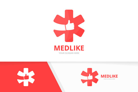Vector ambulance and like logo combination. Medic and best symbol or icon. Unique emergency and choice logotype design template.