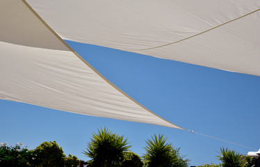 blue sky and awning for the sun