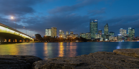 Night view of Perth, Western Australia