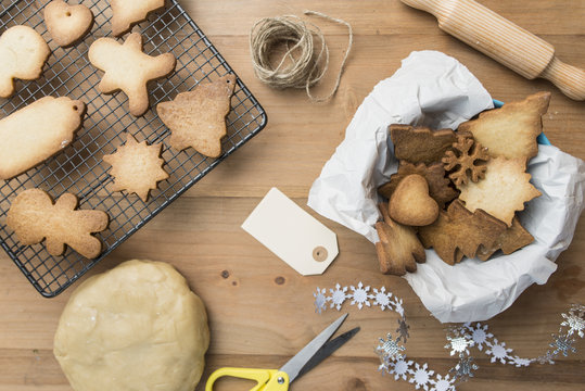 Various home-baked gingerbread cookies