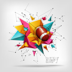 design with rugby ball