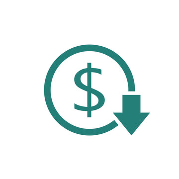 Reduce costs icon. Clipart image