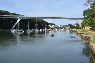 Pont principal du Bono, golf du Morbihan, Bretagne, France