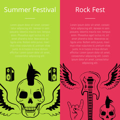 Summer Festival Rock Fest Collection of Posters