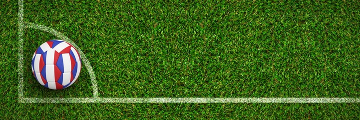 Composite image of football in french colours