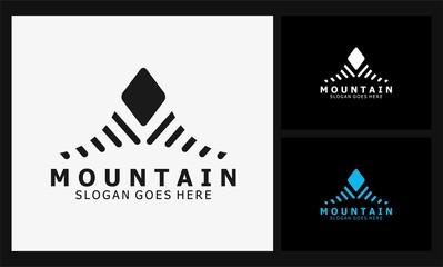 abstract mountain icon logo