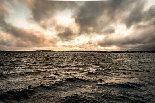 Stormy Clouds Over Coastal Waters