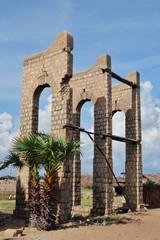 Ruins of the small village Dhanushkodi, Rameshwaram, India.