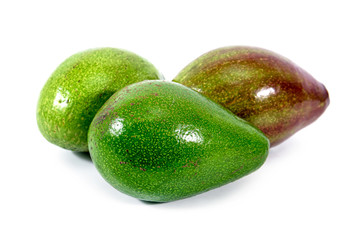 Heap of avocado isolated on white background