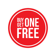 Buy One Get One Off Sign Circular