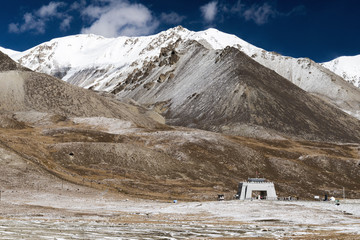 View of the Khunjerab Pass point at the Pakistan-China border.