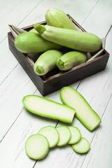 Squash, marrow zucchini. Fresh food background.