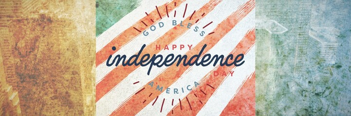 Composite image of happy independence day